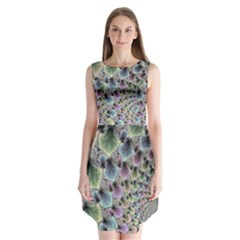 Beautiful Image Fractal Vortex Sleeveless Chiffon Dress