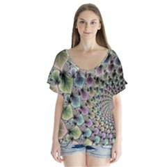 Beautiful Image Fractal Vortex Flutter Sleeve Top