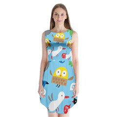 New Zealand Birds Close Fly Animals Sleeveless Chiffon Dress