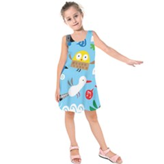New Zealand Birds Close Fly Animals Kids  Sleeveless Dress