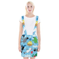New Zealand Birds Close Fly Animals Suspender Skirt