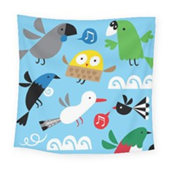 New Zealand Birds Close Fly Animals Square Tapestry (large)