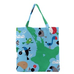 New Zealand Birds Detail Animals Fly Grocery Tote Bag