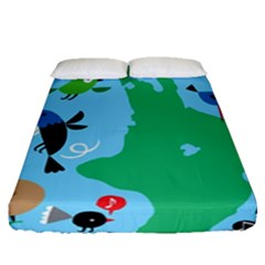 New Zealand Birds Detail Animals Fly Fitted Sheet (queen Size)