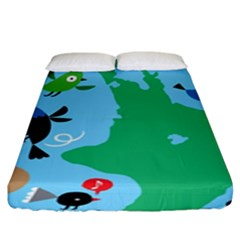 New Zealand Birds Detail Animals Fly Fitted Sheet (king Size)