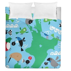 New Zealand Birds Detail Animals Fly Duvet Cover Double Side (queen Size)