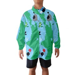 New Zealand Birds Detail Animals Fly Wind Breaker (kids)