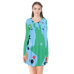 New Zealand Birds Detail Animals Fly Flare Dress