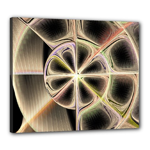 Background With Fractal Crazy Wheel Canvas 24  x 20
