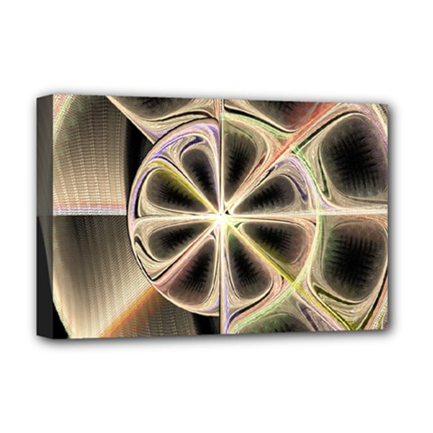 Background With Fractal Crazy Wheel Deluxe Canvas 18  X 12