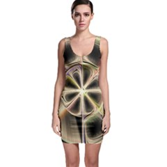 Background With Fractal Crazy Wheel Sleeveless Bodycon Dress