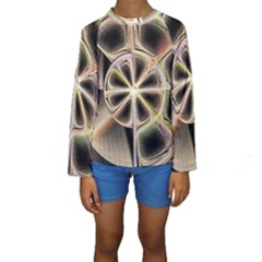 Background With Fractal Crazy Wheel Kids  Long Sleeve Swimwear