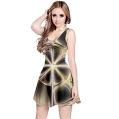Background With Fractal Crazy Wheel Reversible Sleeveless Dress