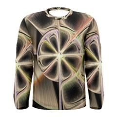 Background With Fractal Crazy Wheel Men s Long Sleeve Tee