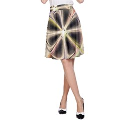 Background With Fractal Crazy Wheel A-Line Skirt