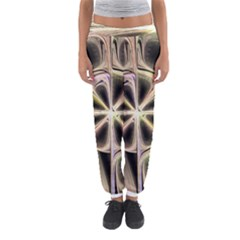 Background With Fractal Crazy Wheel Women s Jogger Sweatpants