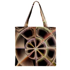 Background With Fractal Crazy Wheel Zipper Grocery Tote Bag