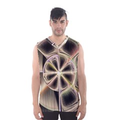 Background With Fractal Crazy Wheel Men s Basketball Tank Top