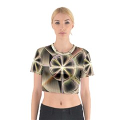 Background With Fractal Crazy Wheel Cotton Crop Top