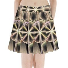 Background With Fractal Crazy Wheel Pleated Mini Skirt