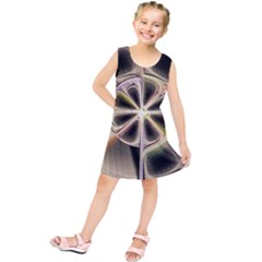 Background With Fractal Crazy Wheel Kids  Tunic Dress