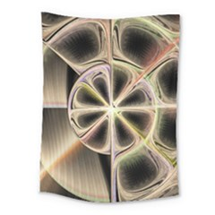 Background With Fractal Crazy Wheel Medium Tapestry