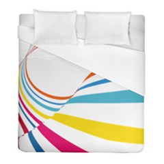 Line Rainbow Orange Blue Yellow Red Pink White Wave Waves Duvet Cover (full/ Double Size)