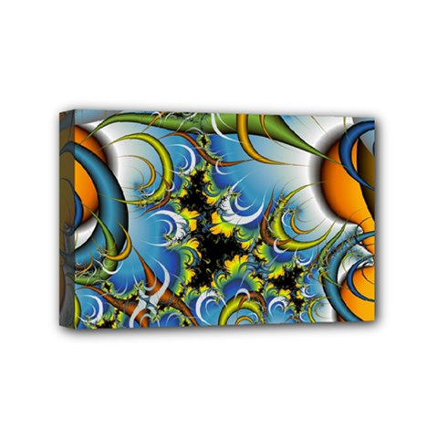 High Detailed Fractal Image Background With Abstract Streak Shape Mini Canvas 6  X 4