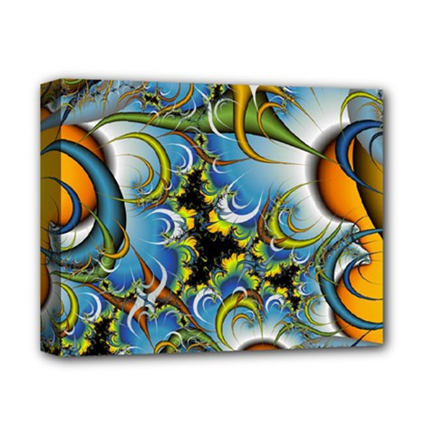 High Detailed Fractal Image Background With Abstract Streak Shape Deluxe Canvas 14  x 11