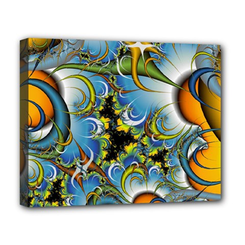High Detailed Fractal Image Background With Abstract Streak Shape Deluxe Canvas 20  x 16