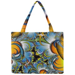 High Detailed Fractal Image Background With Abstract Streak Shape Mini Tote Bag
