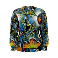 High Detailed Fractal Image Background With Abstract Streak Shape Women s Sweatshirt