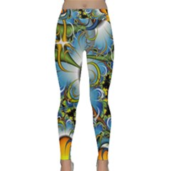 High Detailed Fractal Image Background With Abstract Streak Shape Classic Yoga Leggings