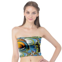 High Detailed Fractal Image Background With Abstract Streak Shape Tube Top
