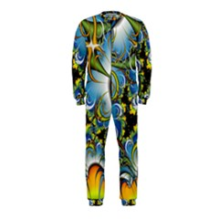 High Detailed Fractal Image Background With Abstract Streak Shape Onepiece Jumpsuit (kids)