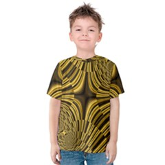 Fractal Golden River Kids  Cotton Tee