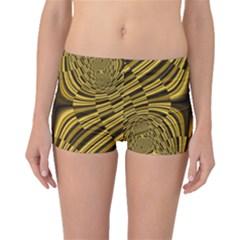 Fractal Golden River Boyleg Bikini Bottoms