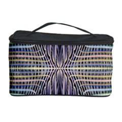 Color Fractal Symmetric Wave Lines Cosmetic Storage Case