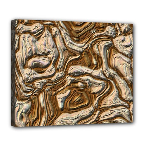 Fractal Background Mud Flow Deluxe Canvas 24  x 20
