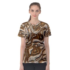 Fractal Background Mud Flow Women s Sport Mesh Tee