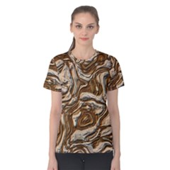 Fractal Background Mud Flow Women s Cotton Tee