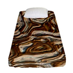 Fractal Background Mud Flow Fitted Sheet (single Size)
