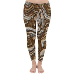 Fractal Background Mud Flow Classic Winter Leggings