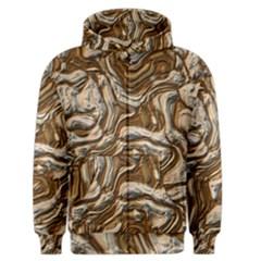 Fractal Background Mud Flow Men s Zipper Hoodie