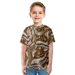 Fractal Background Mud Flow Kids  Sport Mesh Tee