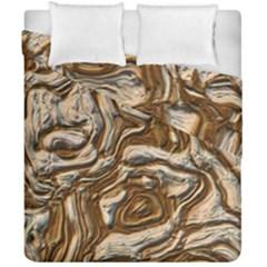 Fractal Background Mud Flow Duvet Cover Double Side (california King Size)