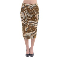 Fractal Background Mud Flow Midi Pencil Skirt