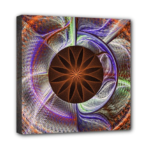 Background Image With Hidden Fractal Flower Mini Canvas 8  X 8