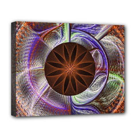 Background Image With Hidden Fractal Flower Deluxe Canvas 20  X 16