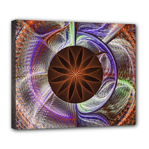 Background Image With Hidden Fractal Flower Deluxe Canvas 24  X 20